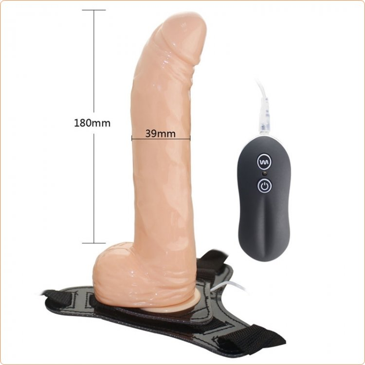 Aphrodisia 8 Inch 10-Speed Harness Curved Dong