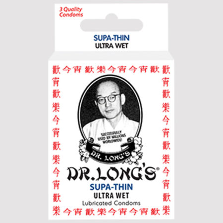 Dr. Long's Supa-Thin Ultra Wet Lubricated Condoms
