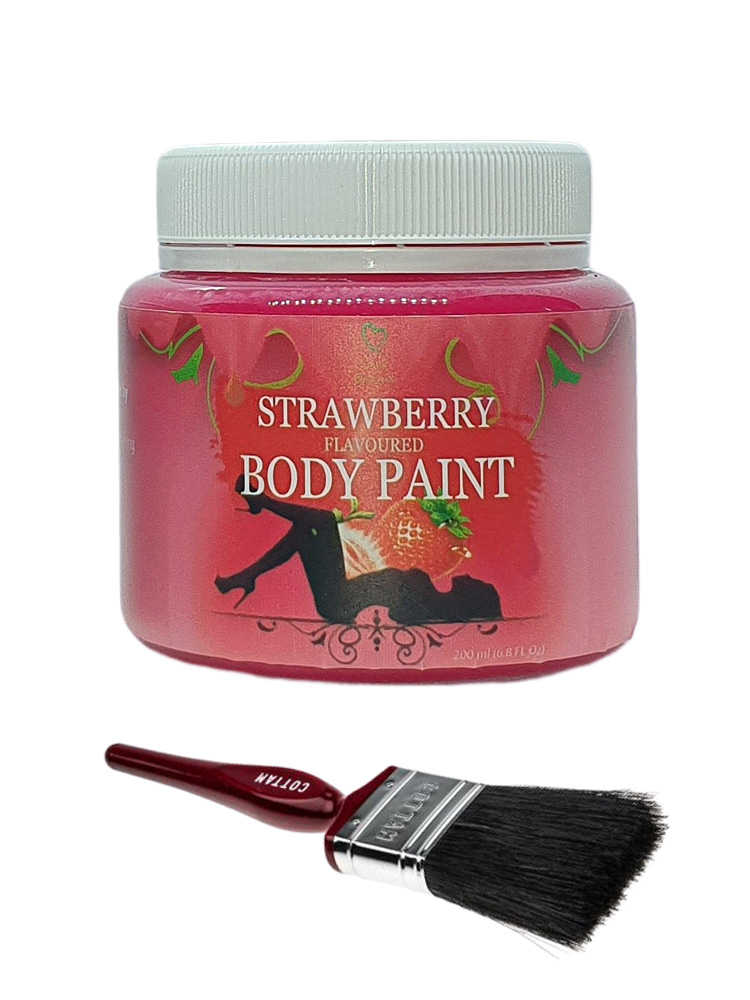 Edible Strawberry Flavoured Body Paint