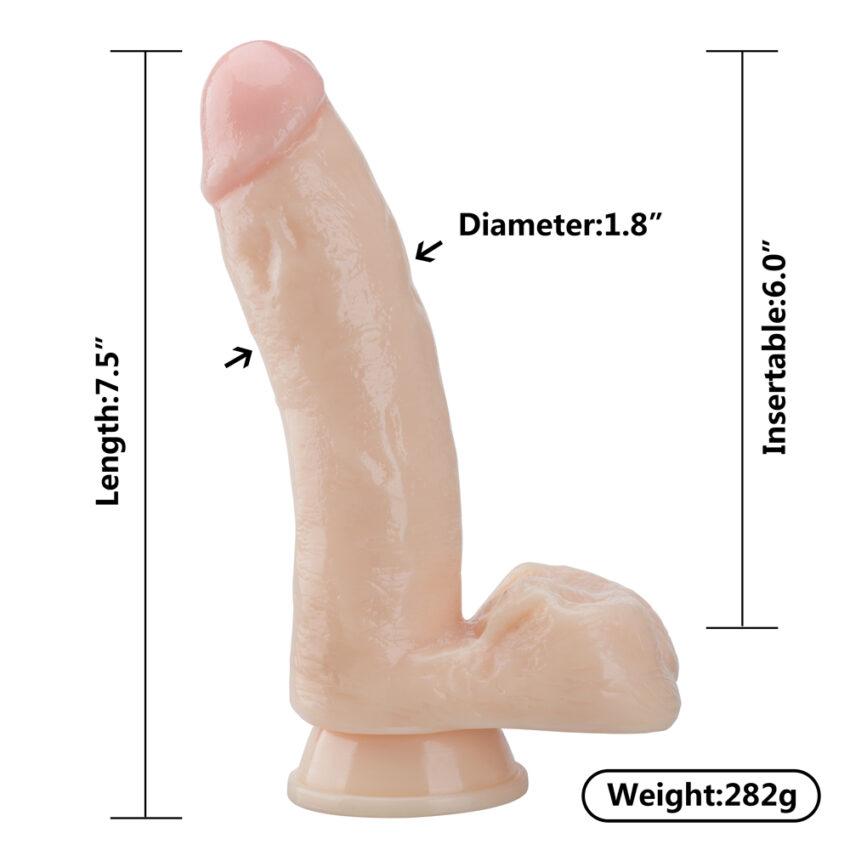 "Being Fetish Erotic Dildo 7.48"""
