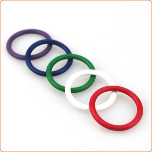 Rainbow Silicone Pleasure Rings