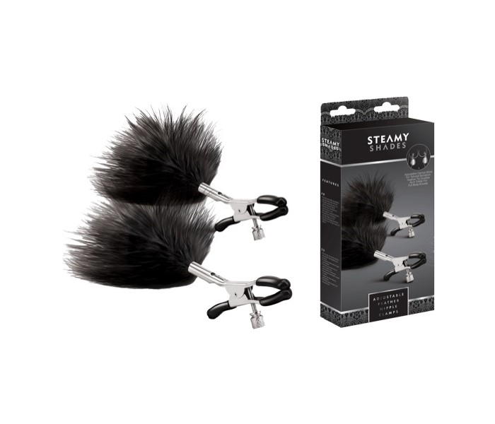 Steamy Shades Adjustable Feather Nipple Clamp