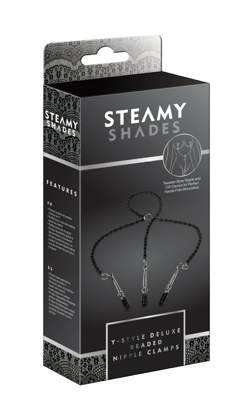 Steamy Shades Y-Style Beaded Nipple Clamp