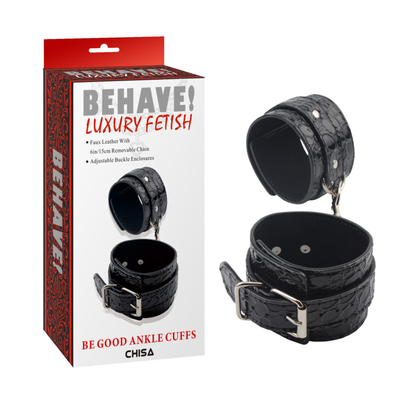 Behave Luxury Fetish Be Good Ankle Cuffs