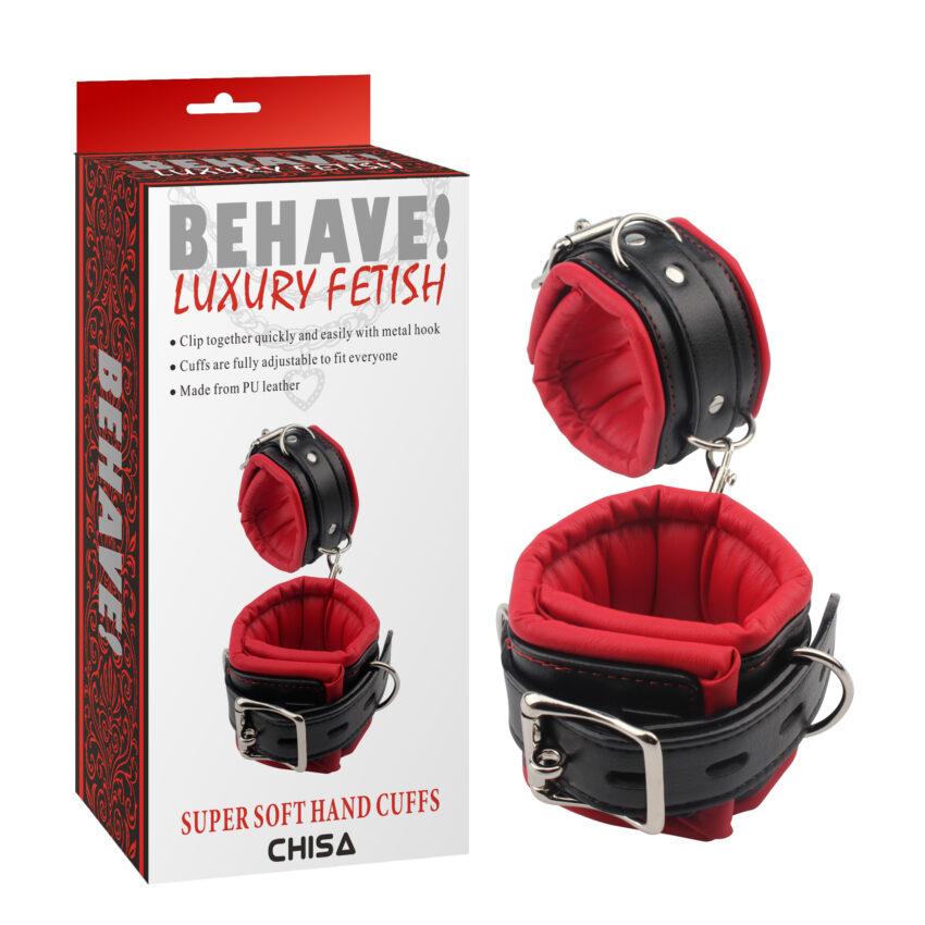 Behave Luxury Fetish Super Soft Handcuffs