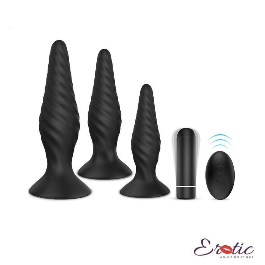 S-Hande Creams Vibrating Butt Plug Kit