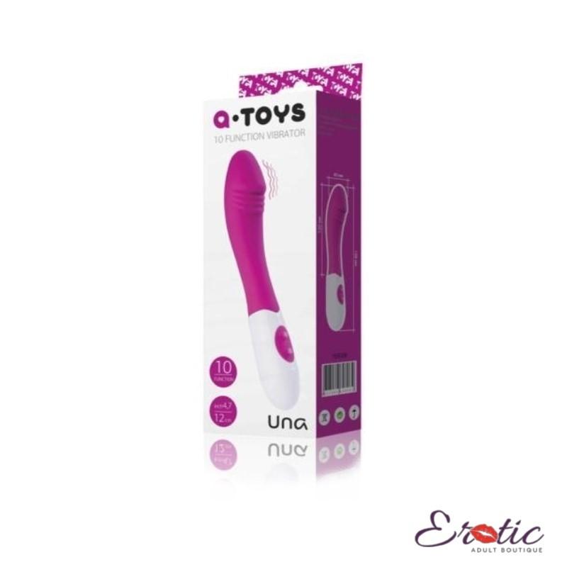A-Toys 10 Function Vibrator Una 7.8